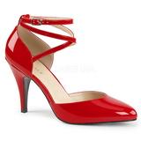 rød lakklær 10 cm DREAM-408 store størrelser pumps sko