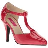 rød lakklær 10 cm DREAM-425 store størrelser pumps sko