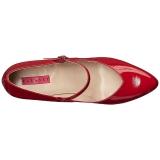 rød lakklær 10 cm DREAM-428 store størrelser pumps sko