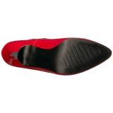 rød lakklær 10 cm DREAM-432 store størrelser pumps sko