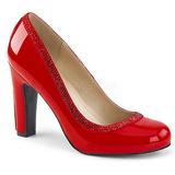 rød lakklær 10 cm QUEEN-04 store størrelser pumps sko