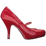 rød lakklær 11,5 cm PINUP-01 store størrelser pumps sko