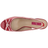 rød lakklær 11,5 cm PINUP-10 store størrelser sandaler dame
