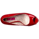 rød lakklær 13,5 cm CHLOE-01 store størrelser pumps sko