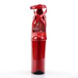 rød lakklær 25,5 cm BEYOND-087 ekstremt pumps høye hæler - veldig høye platå pumps
