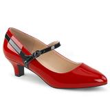 rød lakklær 5 cm FAB-425 store størrelser pumps sko
