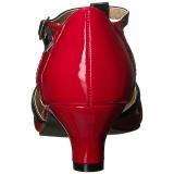 rød lakklær 5 cm FAB-428 store størrelser pumps sko