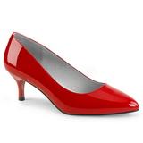 rød lakklær 6,5 cm KITTEN-01 store størrelser pumps sko