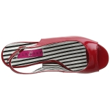 rød lakklær 7,5 cm JENNA-02 store størrelser sandaler dame