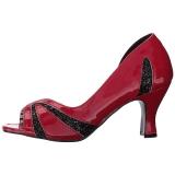rød lakklær 7,5 cm JENNA-03 store størrelser pumps sko