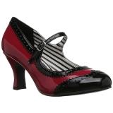 rød lakklær 7,5 cm JENNA-06 store størrelser pumps sko