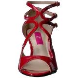 rød lakklær 7,5 cm KIMBERLY-04 store størrelser sandaler dame
