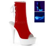 rød neon 15 cm DELIGHT-1018SK canvas joggesko med høye hæler