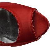 rød strass 13 cm LOLITA-08 høye pumps fest sko med hæl