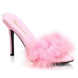 rosa 10 cm CLASSIQUE-01F dame slip ins med marabou fjær