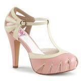 rosa 11,5 cm BETTIE-25 pinup pumps sko med skjult platå