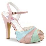 rosa 11,5 cm BETTIE-27 pinup sandaler med skjult platå