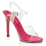 rosa 11,5 cm FABULICIOUS GALA-08 høye fest sandaler med hæl