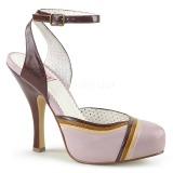 rosa 11,5 cm retro vintage CUTIEPIE-01 pinup sandaler med skjult platå