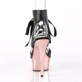 rosa 15 cm DELIGHT-600-14 pleaser platåsandaler for kvinner