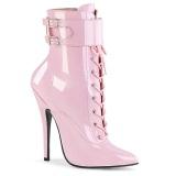 rosa 15 cm DOMINA-1023 stiletto ankelstøvler med høye hæler