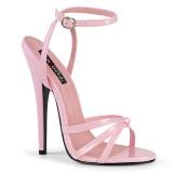 rosa 15 cm DOMINA-108 fetish sandaler med stiletthæler