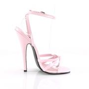 rosa 15 cm DOMINA-108 sko med høye hæler for menn