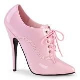 rosa 15 cm DOMINA-460 oxford sko med høye hæler