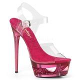 rosa 16,5 cm ECLIPSE-608DM sandaletter med stiletthæl
