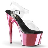 rosa 18 cm ADORE-708 krom platå høye hæler sko