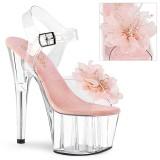 rosa 18 cm ADORE-708BFL pleaser platåsandaler for kvinner