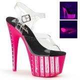 rosa 18 cm ADORE-708VLRS high heels platå med strassteiner