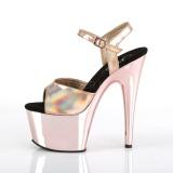 rosa 18 cm ADORE-709HGCH hologram platå høye hæler dame