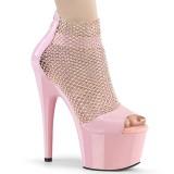 rosa 18 cm ADORE-765RM glitter platå høye hæler