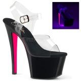 rosa 18 cm SKY-308TT neon platå høye hæler dame