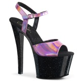 rosa 18 cm SKY-309HG hologram platå høye hæler dame