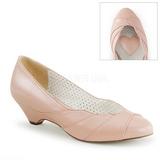 rosa 4 cm LULU-05 pinup pumps sko med lave hæler