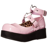 rosa 6 cm SPRITE-02 lolita sko gothic platåsko med tykke såler