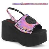 rosa 9 cm Demonia FUNN-32 lolita sandaler med platå
