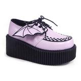 rosa CREEPER-205 platå creepers sko til kvinners