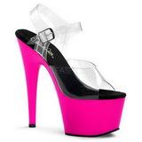rosa Neon 18 cm ADORE-708UV platå høye hæler sko