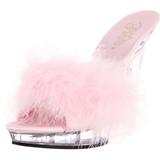 rosa gjennomsiktig 13 cm Fabulicious LIP-101-8 platå høye mules