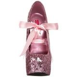 rosa glitter 14,5 cm Burlesque TEEZE-10G platform pumps sko