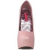 rosa glitter 14,5 cm Burlesque TEEZE-31G platform pumps sko