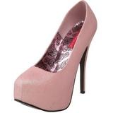 rosa glitter 14,5 cm TEEZE-31G platform pumps sko