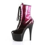 rosa glitter 18 cm ADORE-1020OMB pole dancing ankelstøvletter