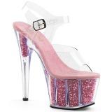 rosa glitter 18 cm Pleaser ADORE-708G pole dancing sko