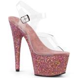 rosa glitter 18 cm Pleaser ADORE-708LG pole dancing sko