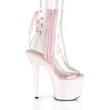 rosa glitter 18 cm UNICORN-1018C pole dancing ankelstøvletter