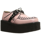 rosa kunstlær CREEPER-206 platå creepers sko til kvinners